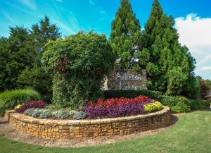 The Asheton Lakes entry monument by Cothran Homes