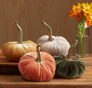 Velvet scented pumpkins from Etsy