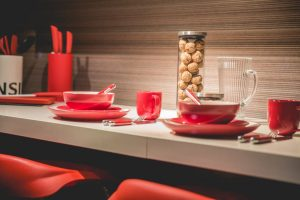 Stock Photo Red Dishes