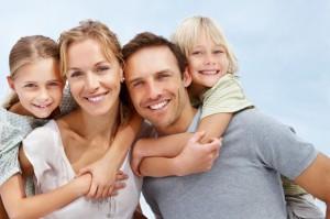 happy family in austin